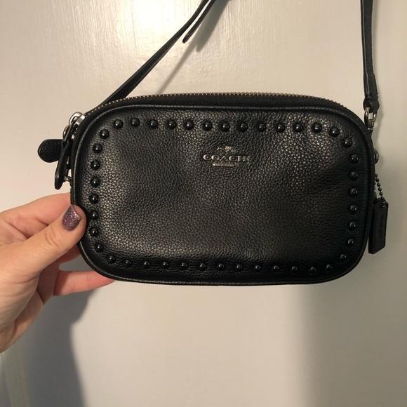 Coach Handbags - Coach Black Crossbody Wristlet